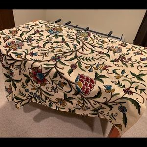 Wool Embroidered Upholstery Fabric